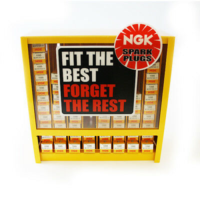NGK Dispenser Holds 80 Spark Plugs Display Stand Cabinet Rack QGB010089
