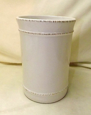 New Pottery Barn Tall Stone Cambria Utensil Crock