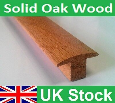 Quality Carpet to Carpet Solid Oak T Section Bar Threshold 1 Metre Length