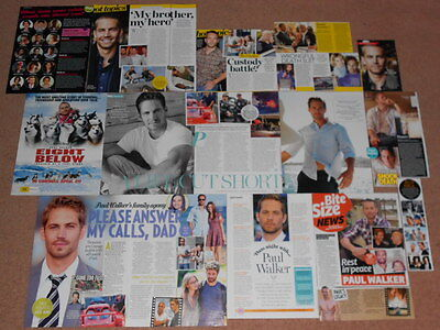15+ PAUL WALKER Magazine Clippings
