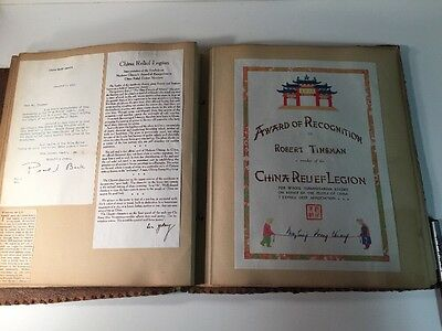 WWII CHINA RELIEF DOCS W/PEARL S. BUCK & MADAME CHIANG Signatures