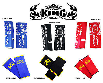 Top King Muay Thai Kick Boxing Ankle Support Guard Wraps Mma, K-1 Tkang New
