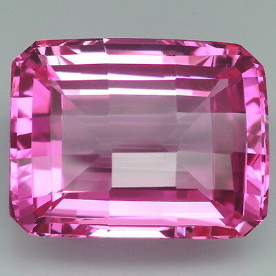Spectacular!!! 40.55ct. Pink Topaz Emerald&Fancy Table