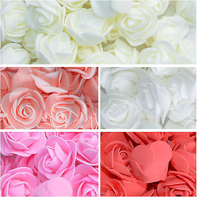 Foam Mini Roses Head Buds Small Flowers Wedding Home Party Decoration x 30, 100