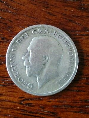 Silver George V Shilling 1920 coin
