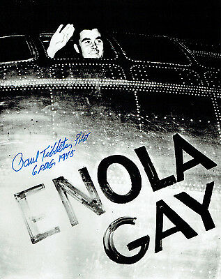 Paul TIBBETS SIGNED Photo AFTAL Autograph RARE Genuine COA Enola Gay Pilot
