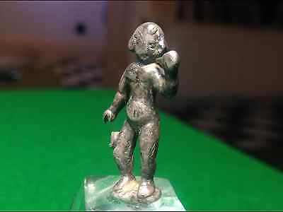 Roman Silver Statue Naked  Youth Genuine Antiquity