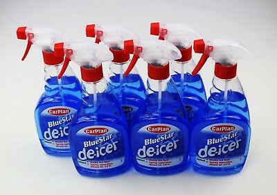6 X 500ml De Icer Trigger spray DEICER TO -15 Carplan / autocare de-icer 6 pk