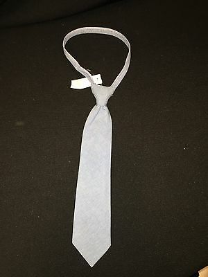 "Little Boys Boutique Imp Originals Blue Chambray Zipper 12"" Necktie"