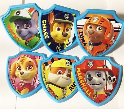 Paw Patrol Cupcake Toppers 24 Rings Birthday Party Favors