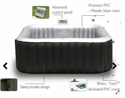 Mspa Inflatable Square Luxury Alpine Hot Tub Spa Jacuzzi - New In Box