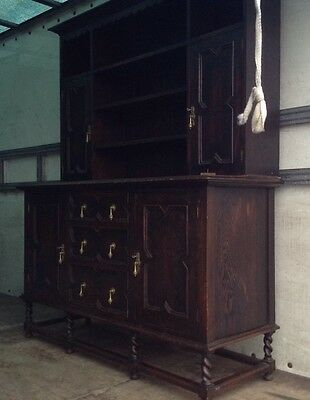 Antique Early 20th Century Solid Oak Farmhouse Dresser. Delivery Available.