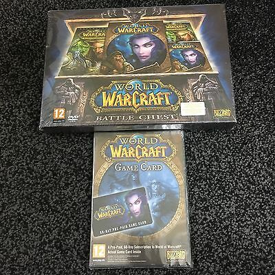 WoW: World Of Warcraft, 60 Day Pre-Paid GAME CARD & BATTLE CHEST (Both Sealed)