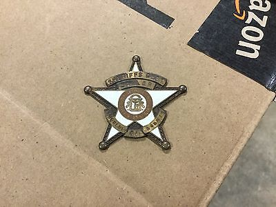 VINTAGE OBSOLETE DEPUTY SHERIFF AND JAILER Dougherty Georgia COUNTY BADGE 2""