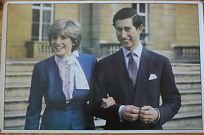 Set of 4 Posters the Royal Wedding 1981 Prince Charles Lady Diana