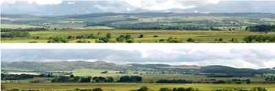 I D Backscenes 208B Photo Backscene 9 inches high, Hills & Dales, 10ft Long OO