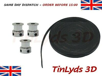 GT2 6mm Timing Belt and Pulleys 16 Teeth 5mm Shaft,prusa Reprap 3d printer part