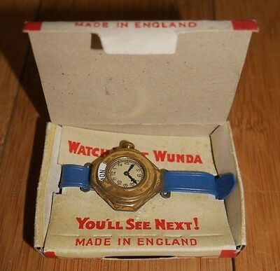 VERY RARE VINTAGE ' WATCH THE WUNDA ' CHILDREN'S TOY WATCH 20th CENTURY PRODUCT