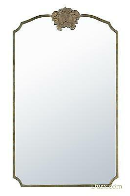 DUSX Woodland Crest Antique Gold Metal Framed Fox Extra Large Mirror