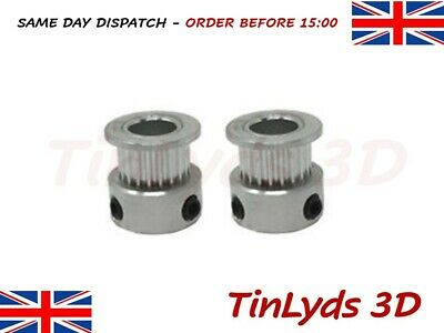 2X GT2 PULLEYS 8mm Bore 20 Teeth-RepRap , Ultimaker 3D printer part