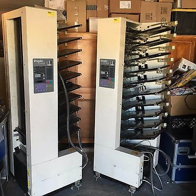 Duplo DC-10000S Collators Air system (2) and DUPLO DC48TW Trimer