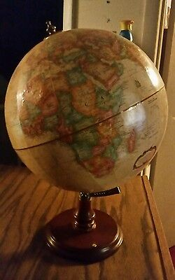 "Desktop Globe 12"" World Classic Series Gold Sepia Armless Excellent Condition"