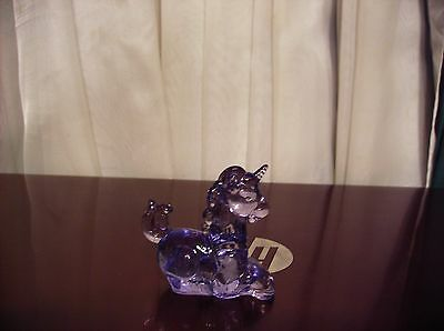 Boyd Glass Little Luck Miniature Unicorn Violet Purple or Lavender Glossy NoRsv