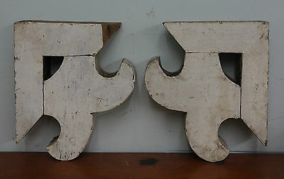 Pair Of Antique Wood Wall Brackets