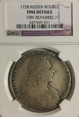 1728 Russia Rouble KM# 182.2, NGC Fine Details