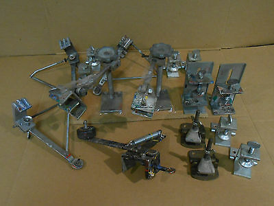 12 pc. lot of Screen Printing Clamps and Screen Supports