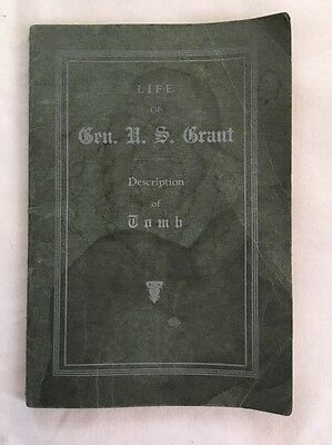 1927 Life General Ulysses S. Grant Description of Tomb Booklet George Burnside