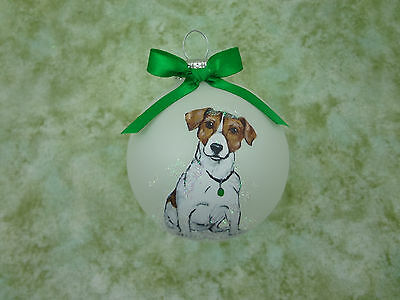 D065 Hand-made Christmas Ornament dog- Jack Russell Terrier- sitting puppy cute