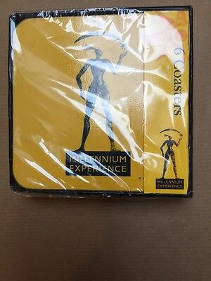 Millennium Dome 6 x coasters Official Product 2000 unopened