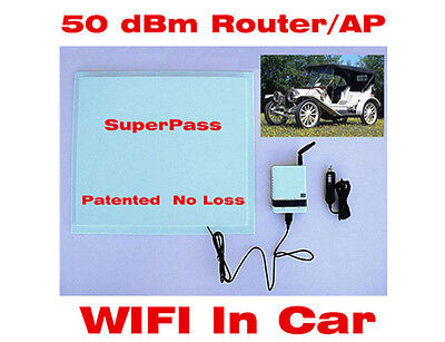50dBm 1000mW USB Repeater Smart Antenna Car WIFI Router Free Share Long Range