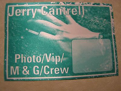 Alice N Chains Jerry Cantrell Tour Backstage Pass!!!Unpeeled!!! RARE!!