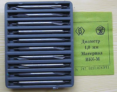 Packing 10 PCS D 1,0 mm CENTER CARBIDE  DRILLS COMBINED .