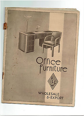 Vintage Office Furniture Catalogue - Port Of London Cabinet Works Plcw