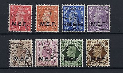 GB BRITISH OCCUPATION KG VI 1947/ 8 Overprinted E.A.F. SG S1 to SG S8  FINE USED