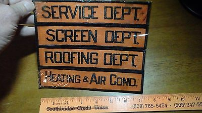 Heating Air Cond Screen Depart Service Depart Back Patch Salesman Copy  Bx W