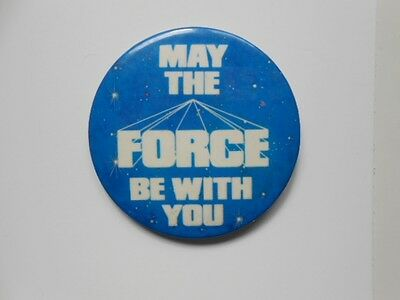 "Star Wars rare ""May the Force Be with You"" button 1981"