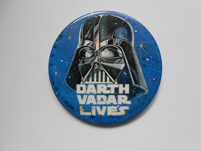 Star Wars rare error Darth Vader Lives button 1981