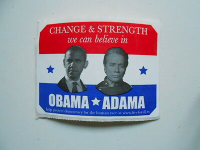 Obama vs Adama rare limited issued 3x3 size sticker..