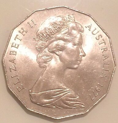 Australia 1977  SILVER JUBILEE 50 Cents - BIG SOLID COIN