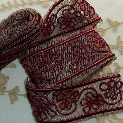 Vintage Embroidered Cord Trim
