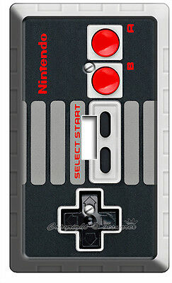 Video Game Controller Classic Nintendo Nes Single Light Switch Cover Wall Decor