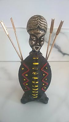 Cast iron  African bottle opener and arrow cocktail sticks