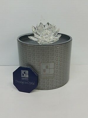 New Swarovski Silver Crystal Water Lily Lotus Flower Candle Holder 7600 Austria