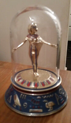 4 Franklin Mint Egyptian figurines in glass domes collectible