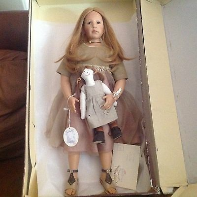 Zapf Elissa Glassgold LE/750 2002 Gianna with Himstedt shoes