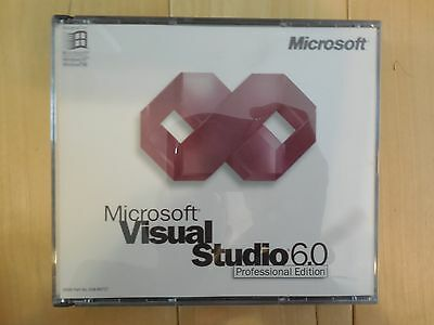 Visual Studio 6.0 Professional Pro 6 FoxPro Basic C++ FULL VER + KEYCODE = 3 CDs